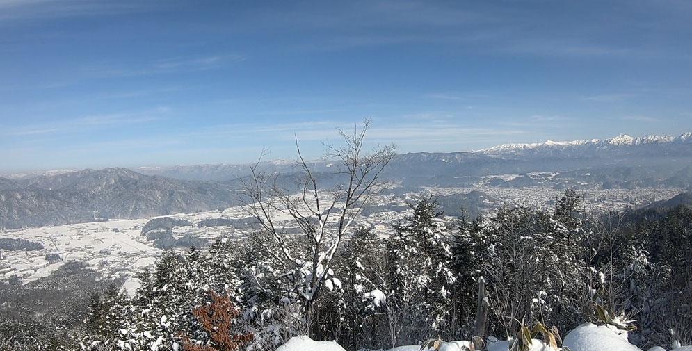 原山の頂上からの景色