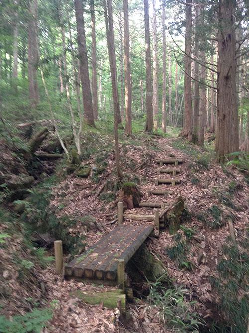 木の橋・階段