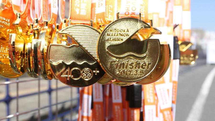 ゴールするともらえるメダル