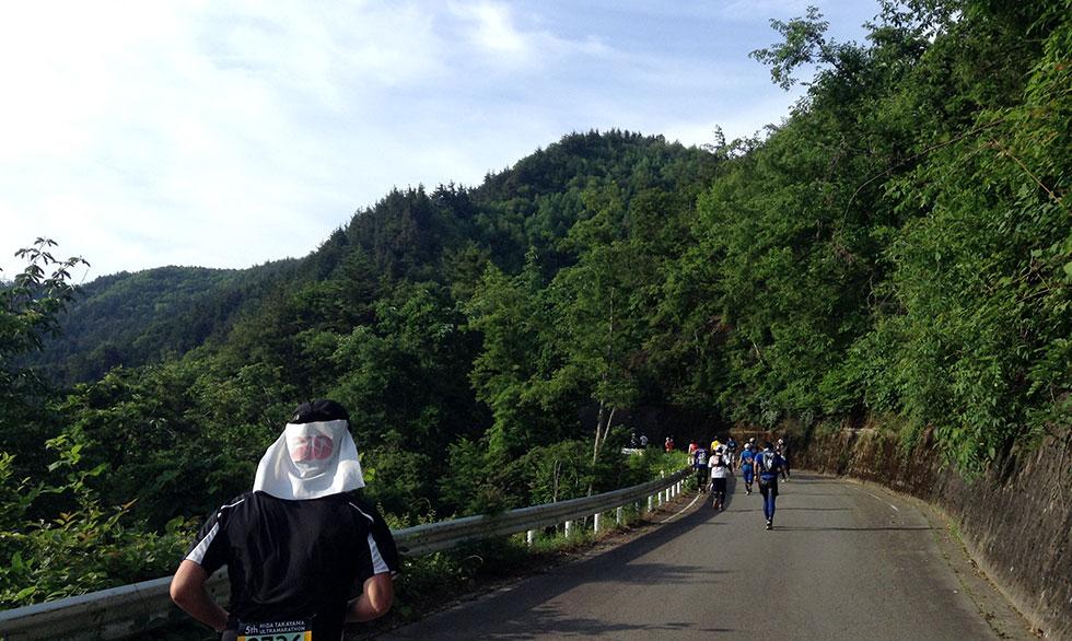 高山ウルトラマラソン名物「坂」